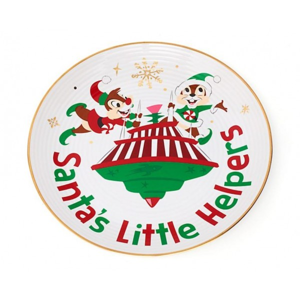 Disney Chip 'n' Dale Holiday Cheer Dessert Plate