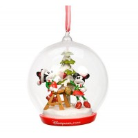 Mickey and Minnie bauble Christmas Tree Light-up Ornament, Disneyland Paris