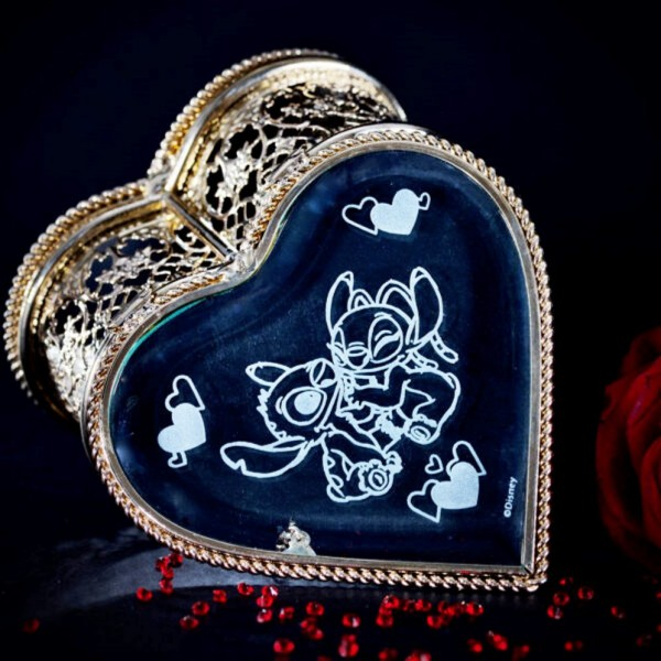 Stitch and Angel Heart Jewellery Box, Arribas Collection