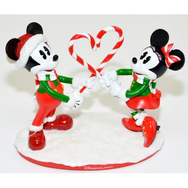 Mickey and Minnie Mouse Christmas Figurine, Disneyland Paris