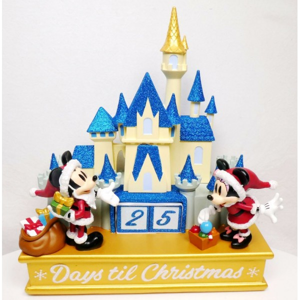 Disney Castle Countdown to Christmas Figurine