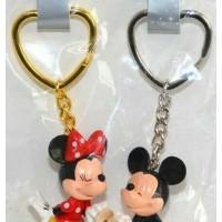 Disney Mickey Minnie Mouse Keychains Key Ring set