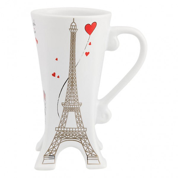 Disneyland Paris Eiffel Tower Amour 3D Mug