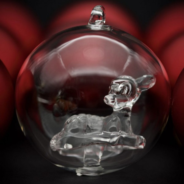Bambi Christmas bauble, Arribas Glass Collection