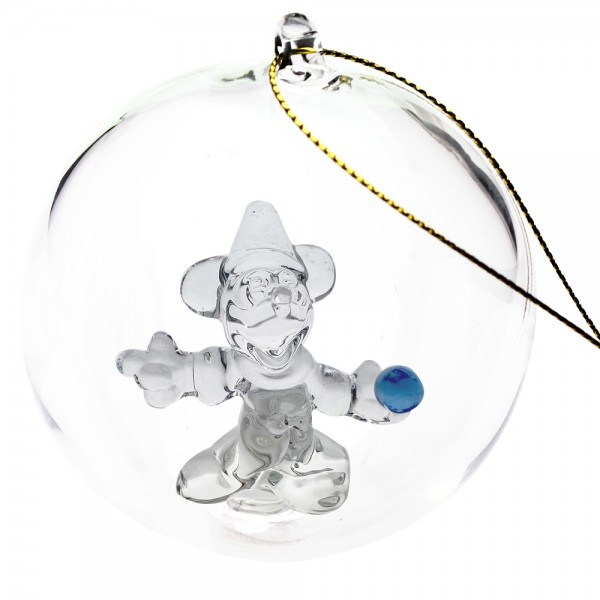 Mickey Sorcerer Christmas bauble, Arribas Glass Collection