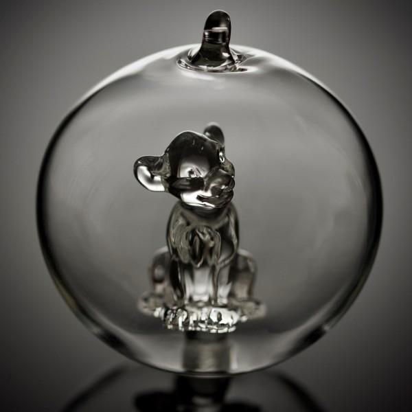 Simba Christmas bauble, Arribas Glass Collection