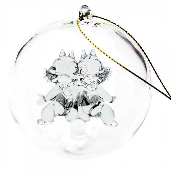 Chip and Dale Christmas bauble, Arribas Glass Collection