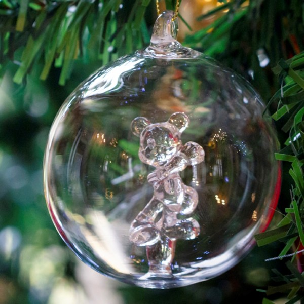 Mickey Mouse Christmas bauble, Arribas Glass Collection