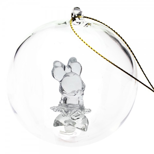 Minnie Mouse Christmas bauble, Arribas Glass Collection