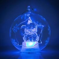 Dumbo Illuminated Christmas Bauble, Arribas Glass Collection