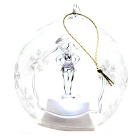 Tinkerbell Illuminated Christmas Bauble, Arribas Glass Collection