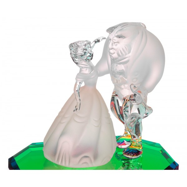 Beauty and the Beast on a glass base, Arribas Glass Collection
