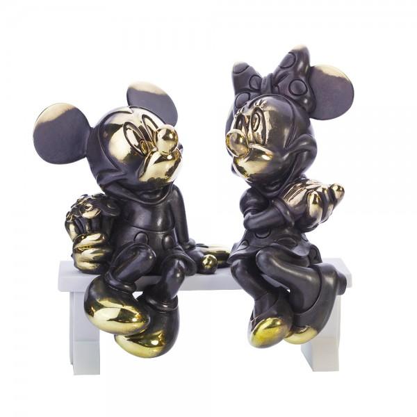 Mickey and Minnie Mouse Arribas Bronze Figurine