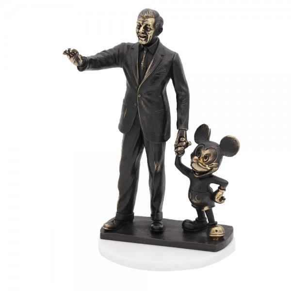 Mickey and Walt Disney Arribas Bronze Figurine