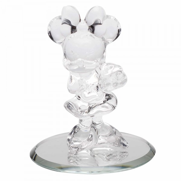 Minnie Mouse figure on mirror, Arribas Glass Collection