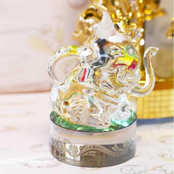 Dumbo on base glass figure, Arribas Glass Collection