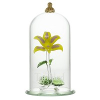 Rapunzel Flower Dome Ornament, Arribas Glass Collection ( 10cm )