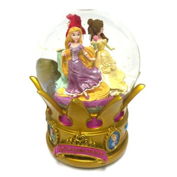 Princess Belle, Ariel and Rapunzel Snow Globe