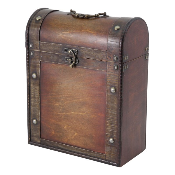 Antique Effect 3 Bottle Wooden Wine Box