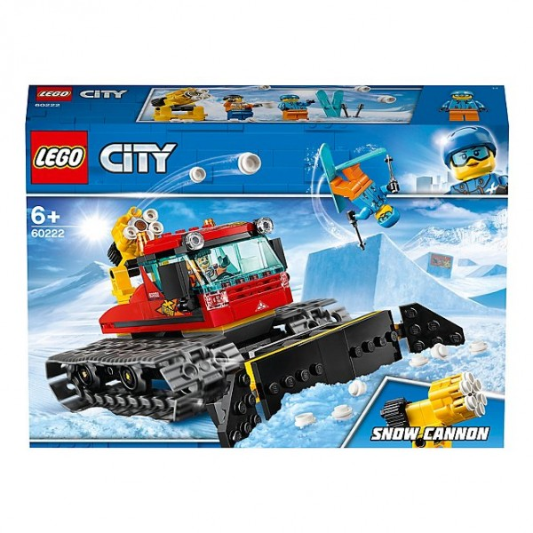 LEGO City 60222 Great Vehicles Snow Groomer with Plough Tracked Toy