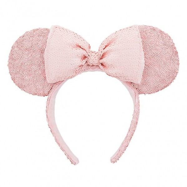 Minnie Mouse Pink Sequined Ears Headband, Disneyland Paris