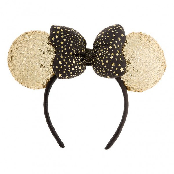 Disneyland Paris Minnie Gold Sequined Headband ears