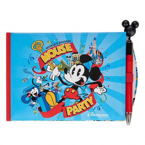 Mickey Mouse Biggest Mouse Party Disneyland Paris Autograph Book and Pen