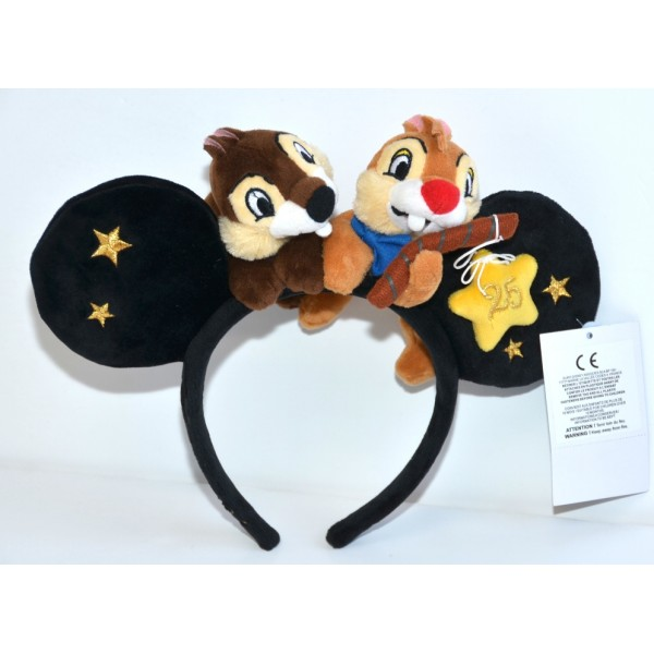 Disneyland Paris 25 Anniversary Chip and Dale ears
