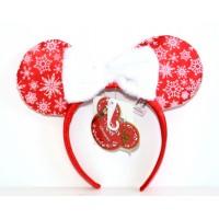 Disneyland Paris Christmas Headband ears in red