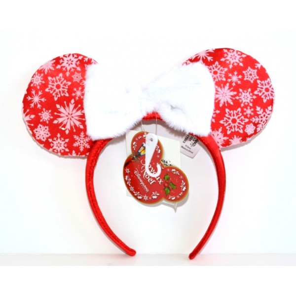 Disneyland Paris Christmas Headband ears in red