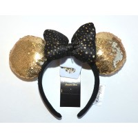 Disneyland Paris Minnie Gold Sequined Headband ears