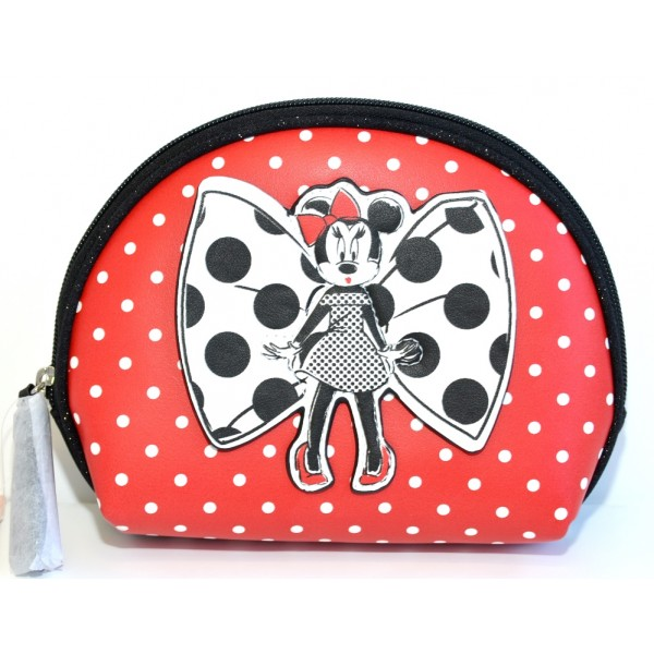 Disney Minnie Mouse Parisienne polka dot Cosmetic Bag , Disneyland Paris new Collection