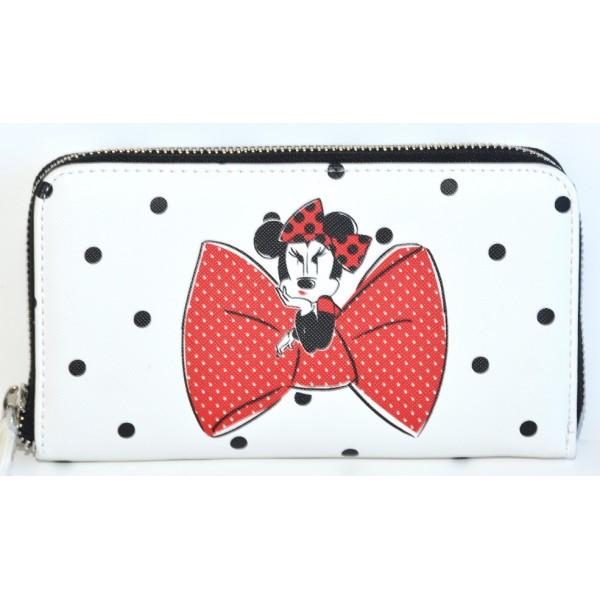 Disney Minnie Mouse Parisienne polka dot Wallet, Disneyland Paris new Collection