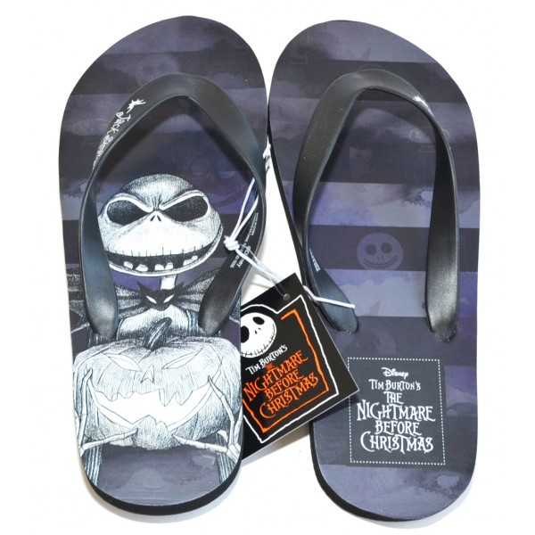 Disneyland Paris Jack Skellington Nightmare Before Christmas Flip flops size XL 8/9 - 41/42