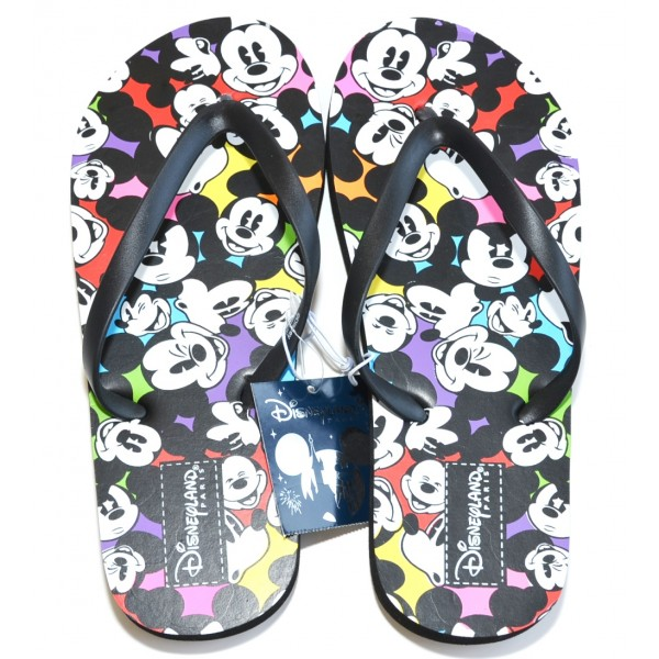 Disneyland Paris Mickey Mouse multi faces Flip flops size XL 8/9 -41/42