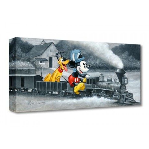 ''Mickey's Train'' Giclée on Canvas by Tim Rogerson – Limited Edition