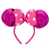 Minnie Mouse Ears Headband for Girls - Pink Sequin