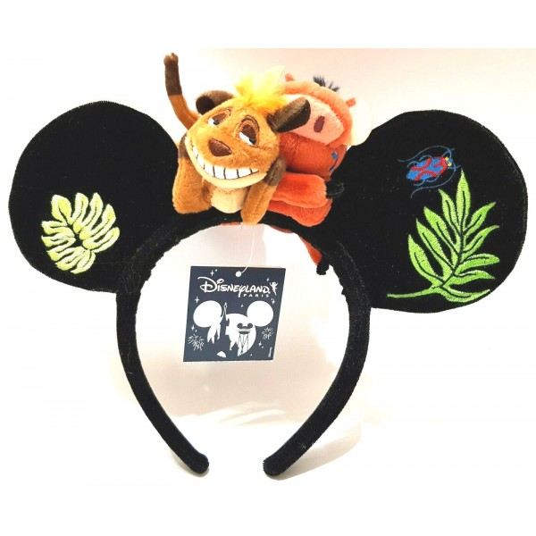 Disneyland Paris Timon and Pumba From Lion King Headband ears