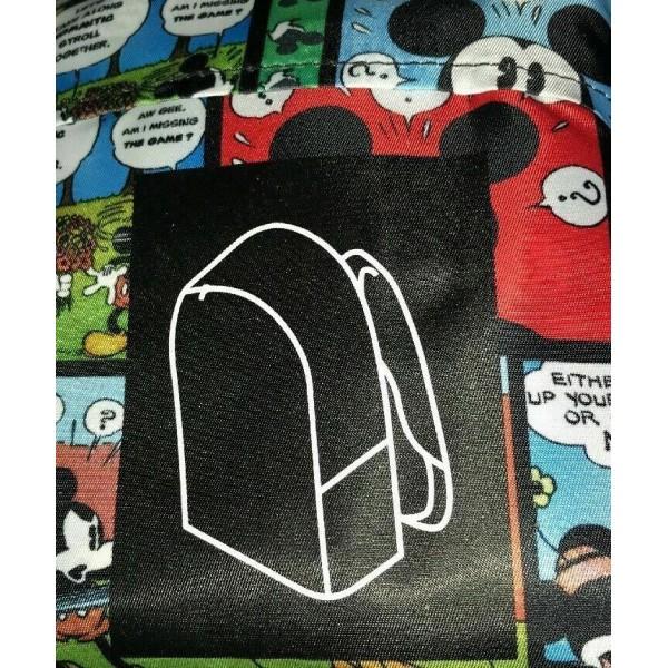 Disneyland Paris Mickey Mouse Foldaway Backpack