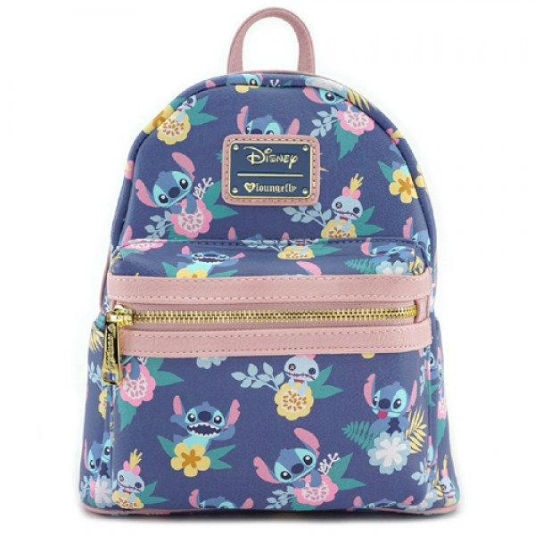 Disney Mini Backpack - Loungefly x Stitch & Scrump Floral Print