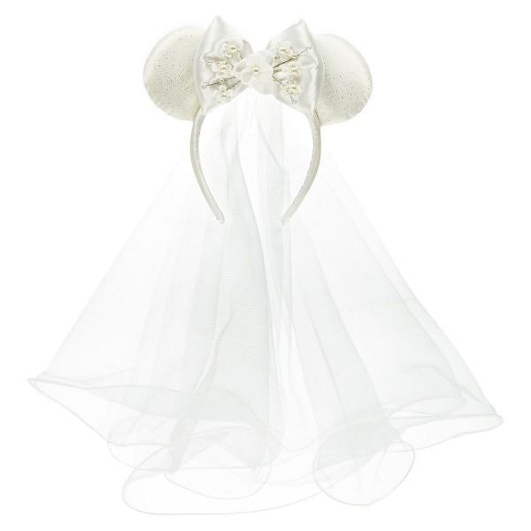 Disney Minnie Mouse Bride wedding Ears Headband, Disneyland Paris
