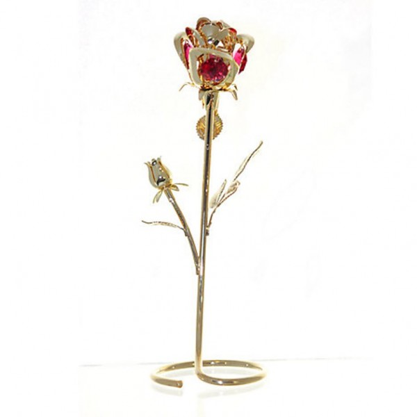 Beauty and the Beast Standing Rose Gold-Plated Figurine