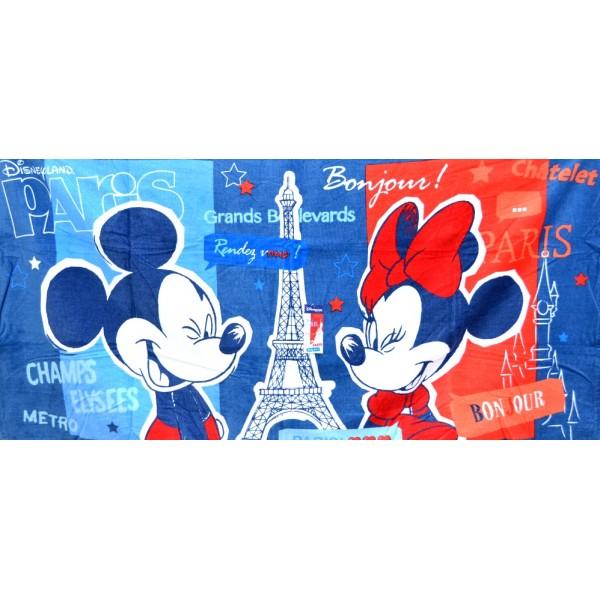 Disneyland Paris Mickey and Minnie in Paris Beach Towel