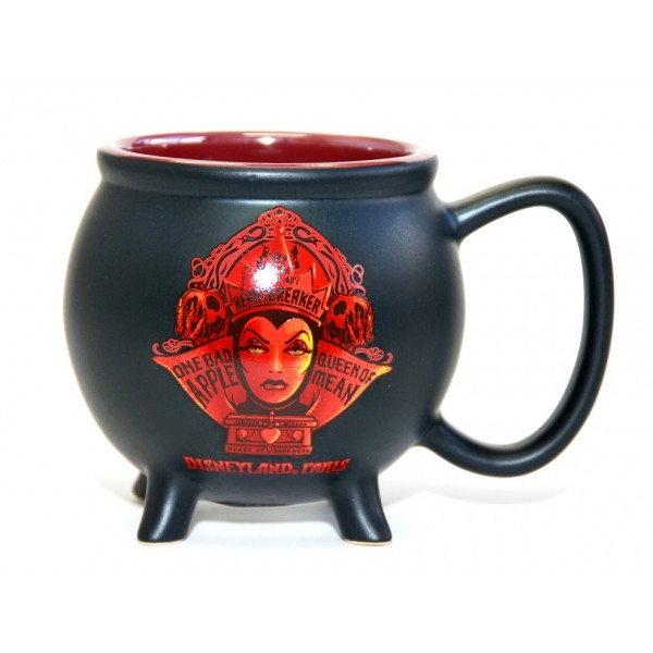 Disney Evil Queen in red Cauldron Mug, Disneyland Paris Original