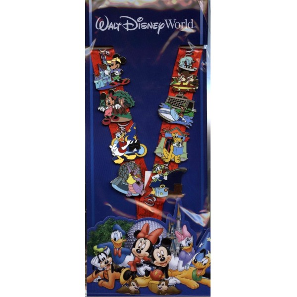 Disney Lanyard Pin Trading Set