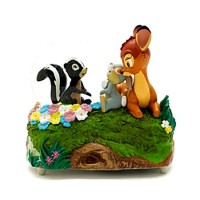 Disney Bambi Thumper and Flower Snow Globe