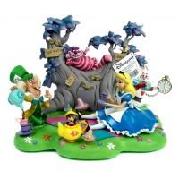 Disneyland Paris Alice in Wonderland Tea Party Diorama Figurine