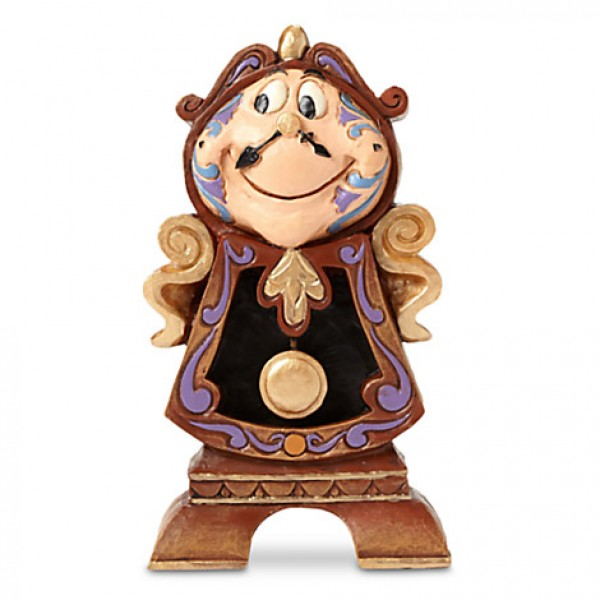 Disney Traditions by Jim Shore - Cogsworth ''Keeping Watch'' Figure Beauty and the Beast