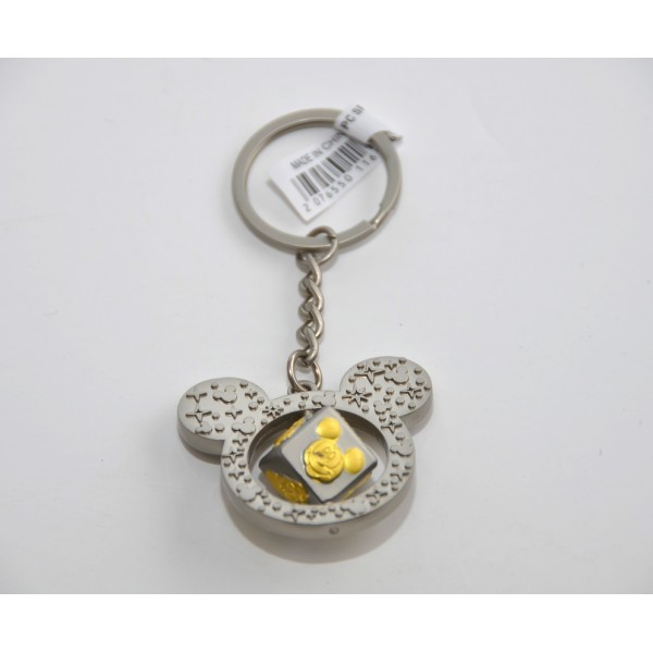 Disneyland Paris Mickey and Friends spin cube Keyring