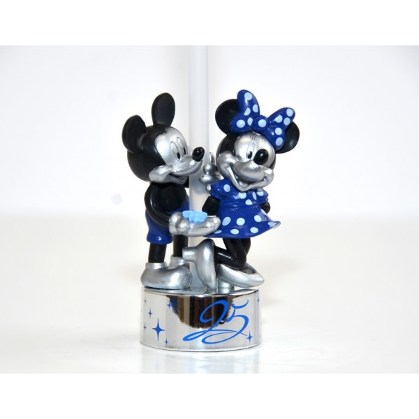Disneyland Paris 25th Anniversary Bottle Cap Straw - Mickey and Minnie